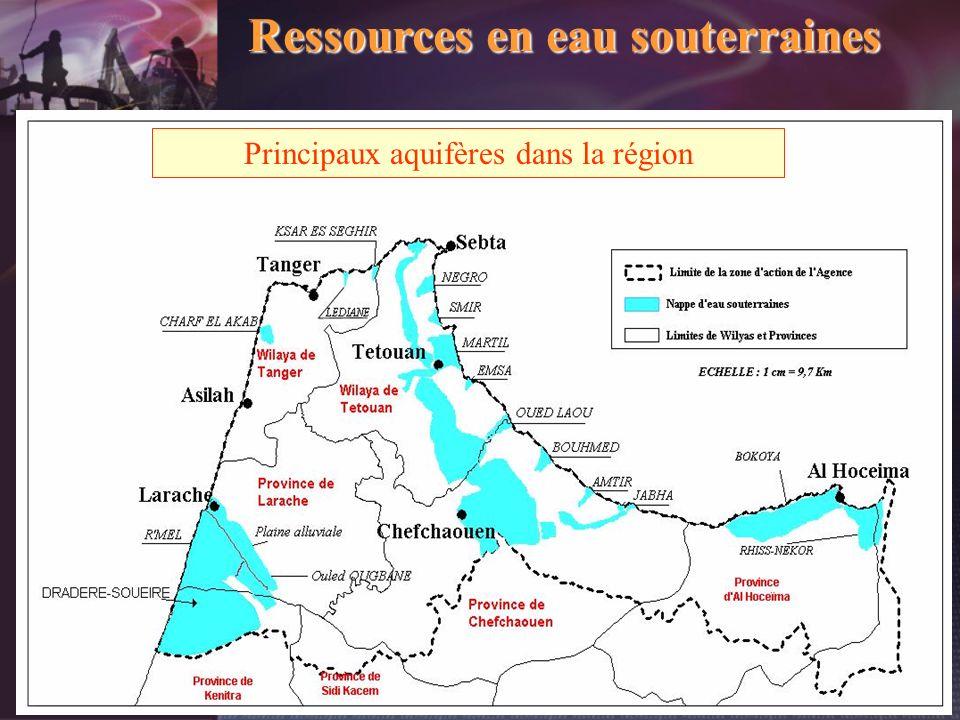 Principaux aquifères dans la région