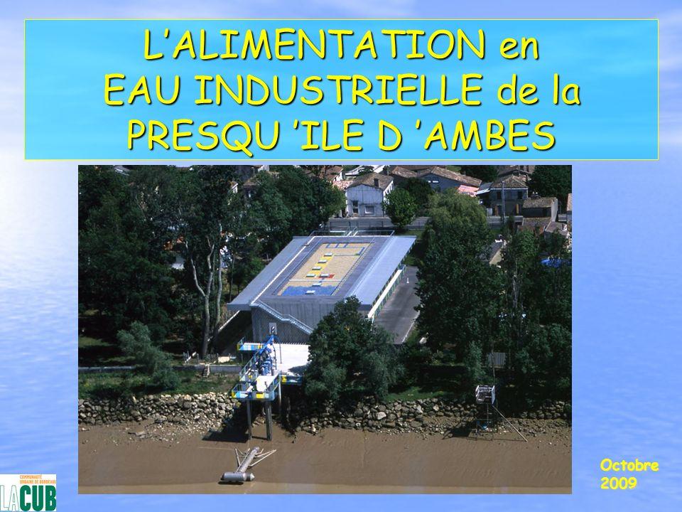 L'ALIMENTATION en EAU INDUSTRIELLE de la PRESQU 'ILE D 'AMBES
