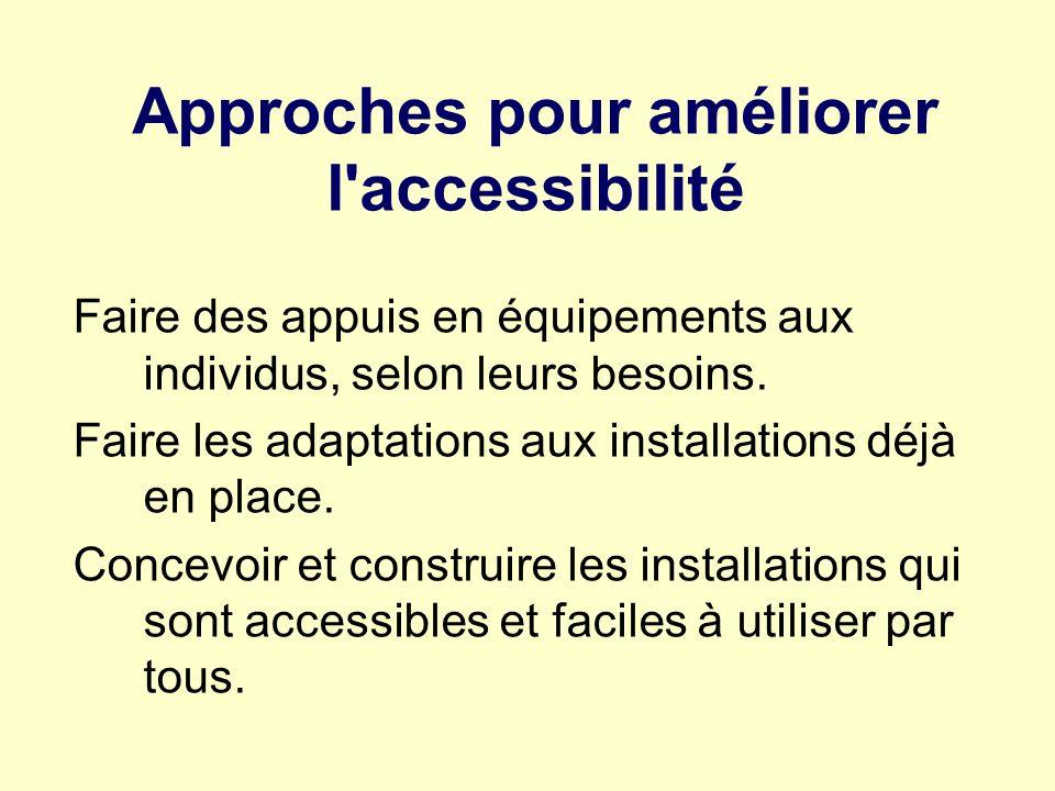 Approches pour améliorer l accessibilité
