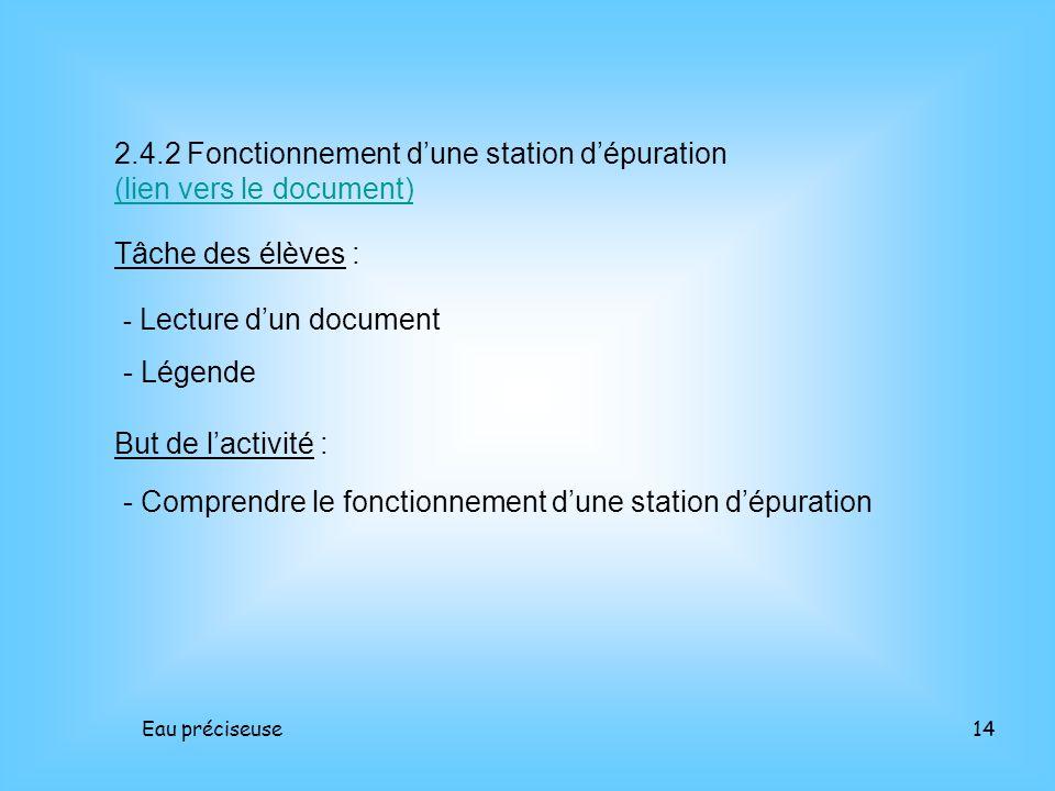 2.4.2 Fonctionnement d'une station d'épuration (lien vers le document)