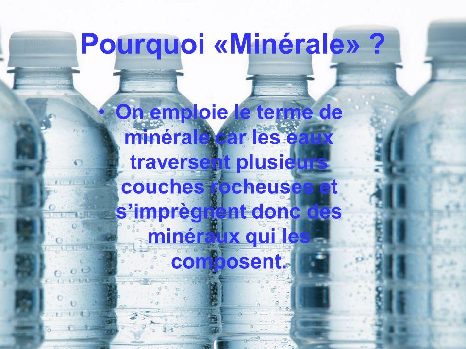 Pourquoi «Minérale»