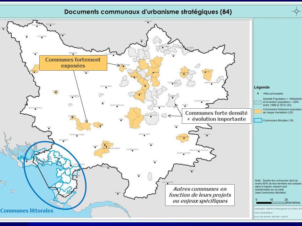 Communes fortement exposées