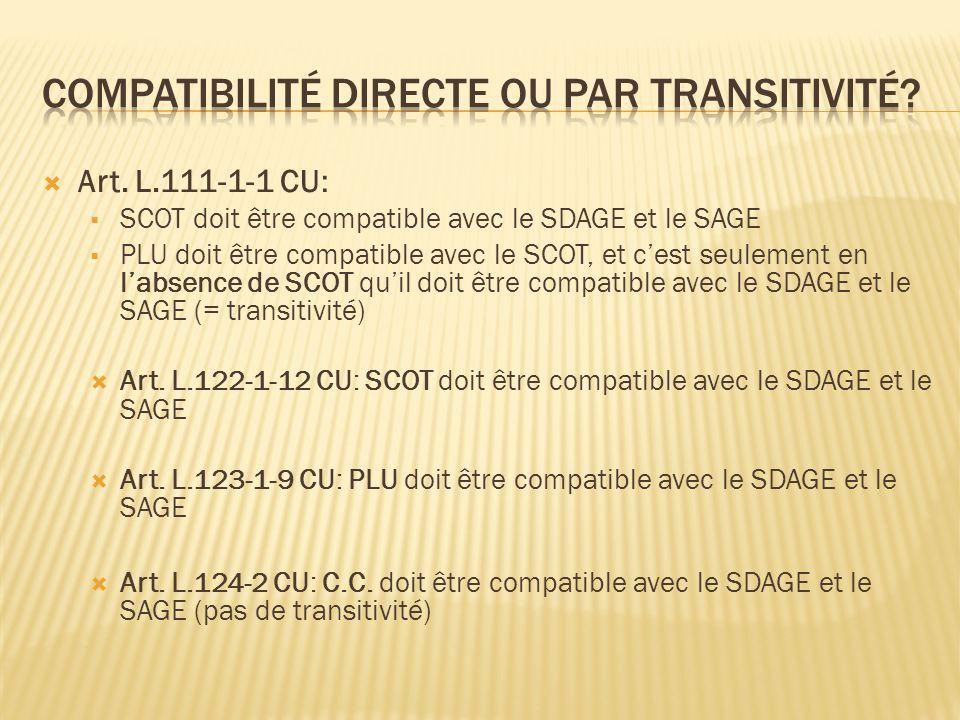 Compatibilité directe ou par transitivité