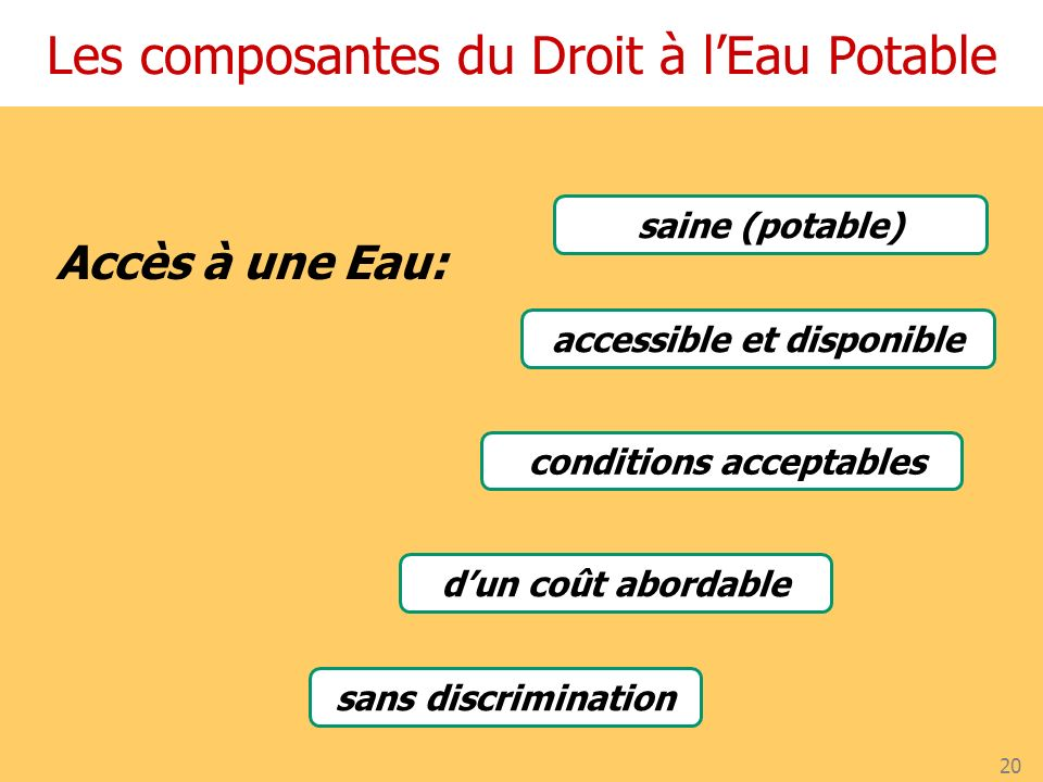 accessible et disponible conditions acceptables