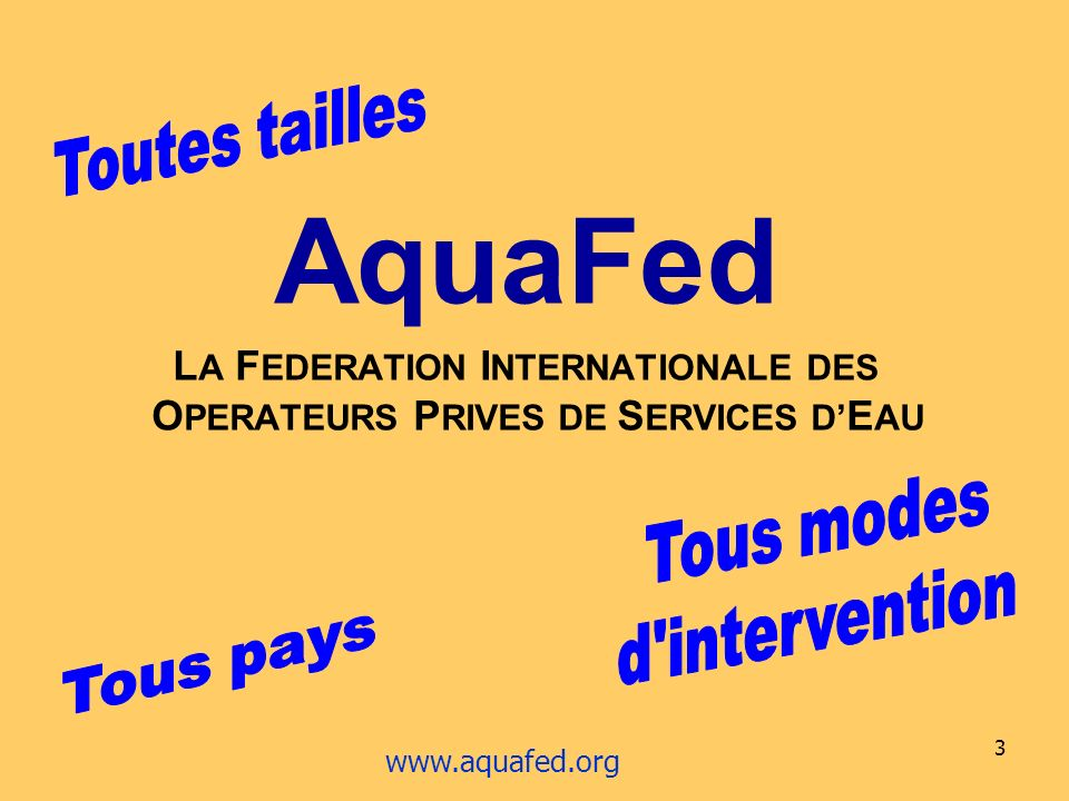 LA FEDERATION INTERNATIONALE DES