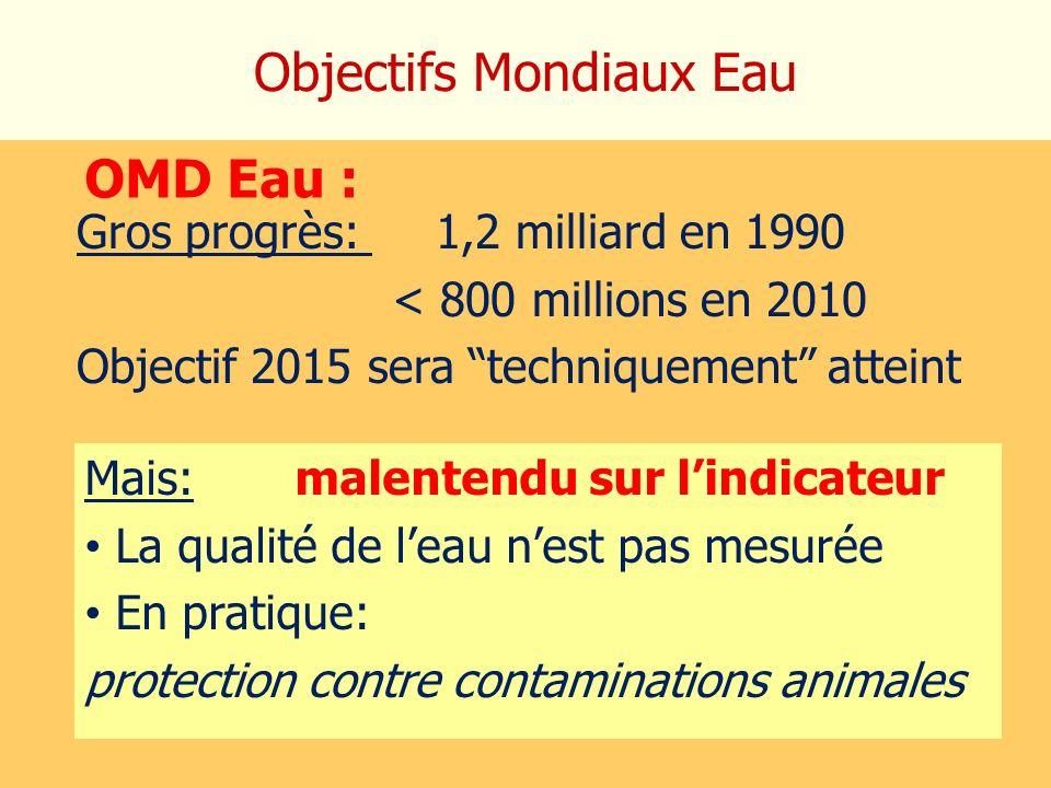 Objectifs Mondiaux Eau