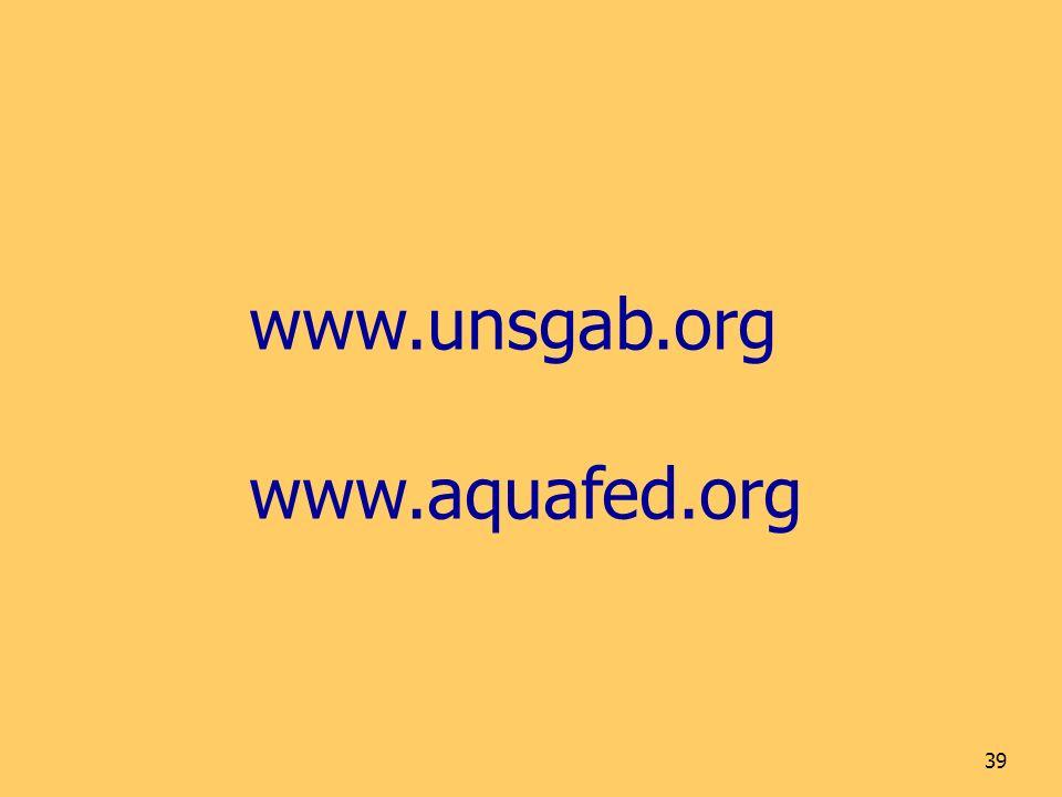 www.unsgab.org www.aquafed.org