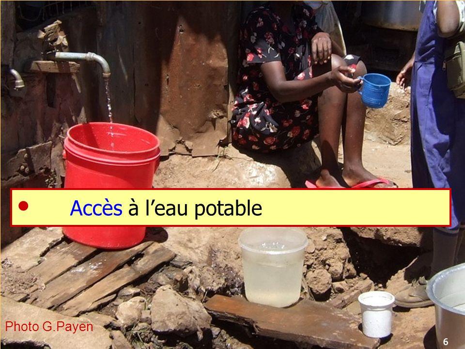 Accès à l'eau potable  Photo G.Payen 6