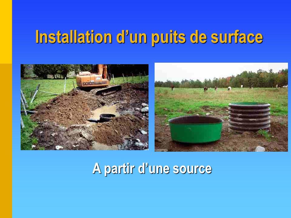 Installation d'un puits de surface
