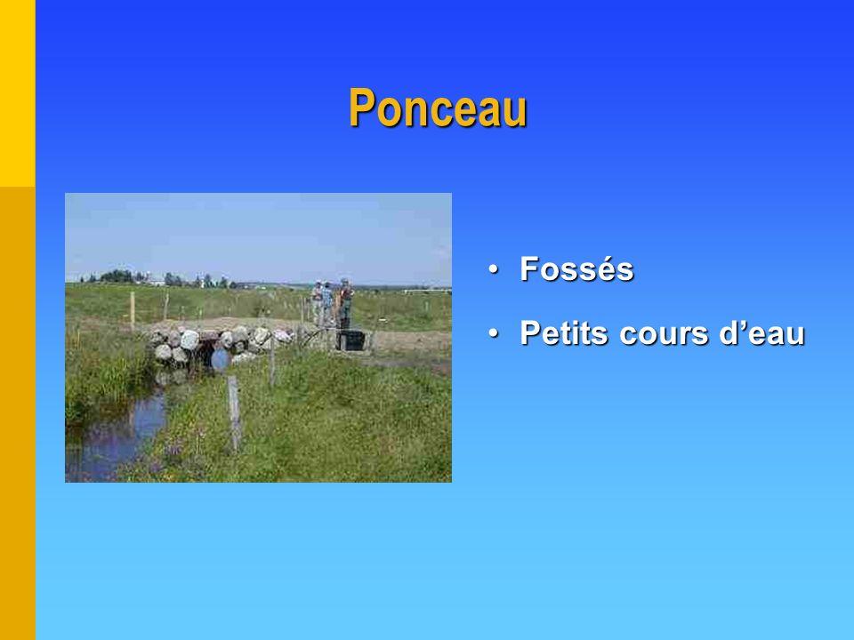 Ponceau Fossés Petits cours d'eau