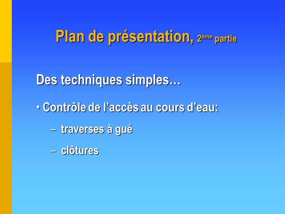 Plan de présentation, 2ème partie