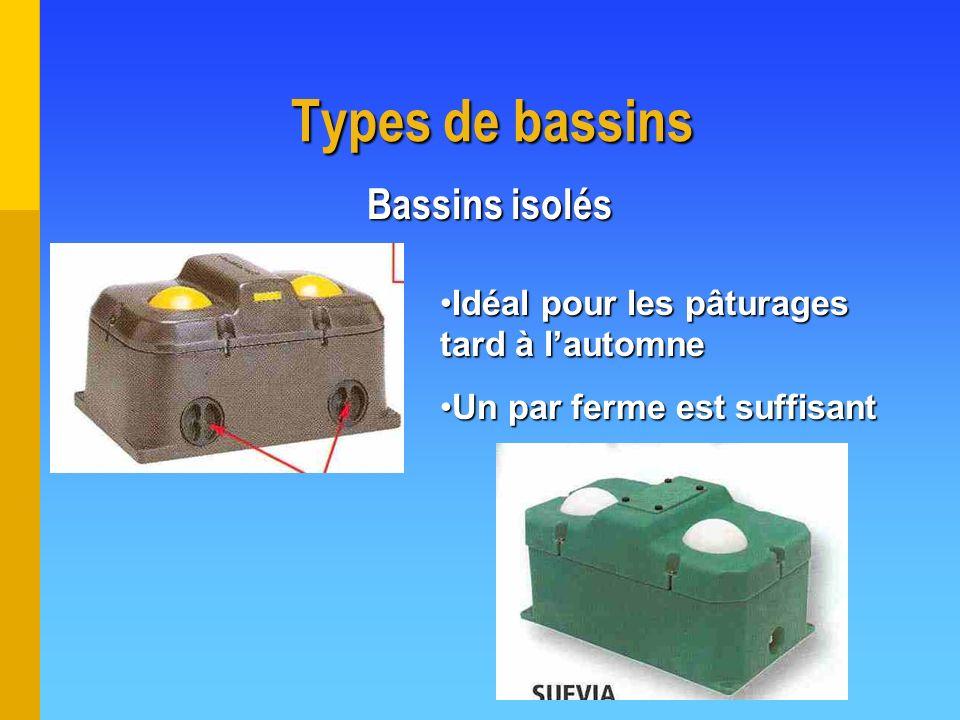 Types de bassins Bassins isolés