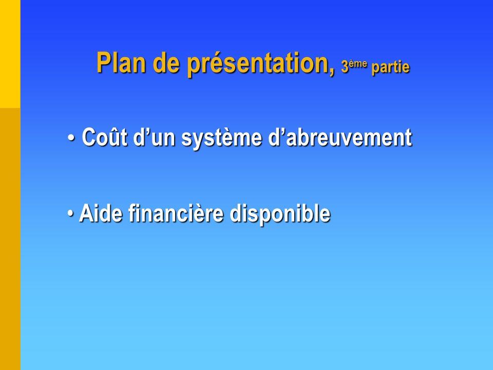 Plan de présentation, 3ème partie