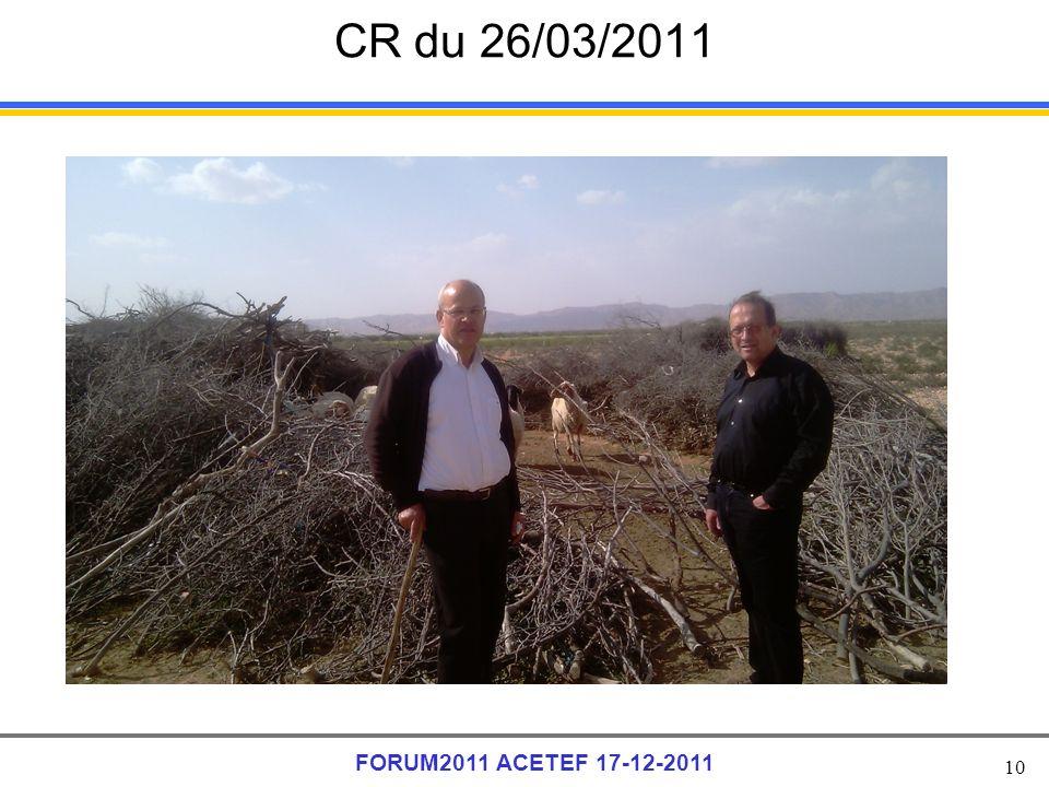 CR du 26/03/2011