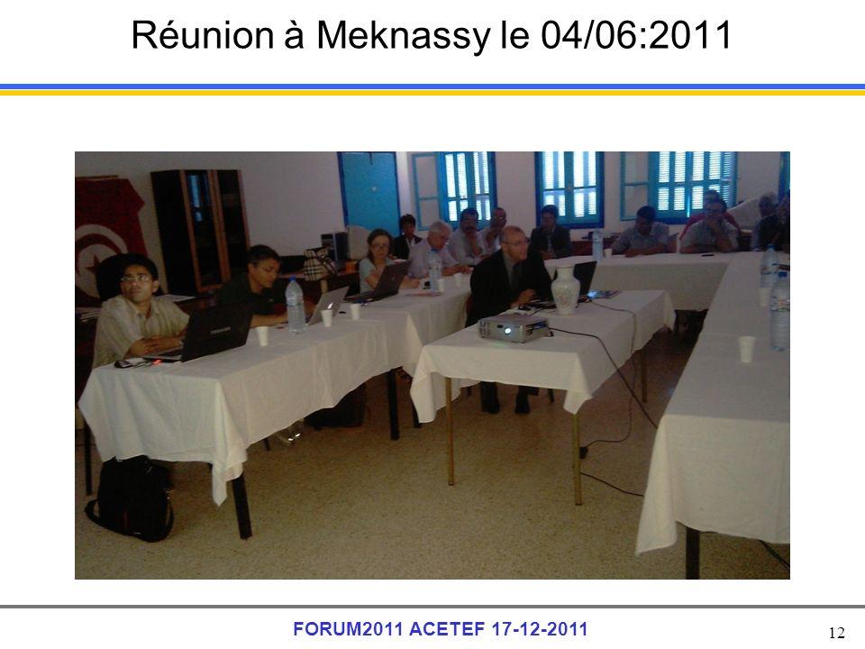 Réunion à Meknassy le 04/06:2011