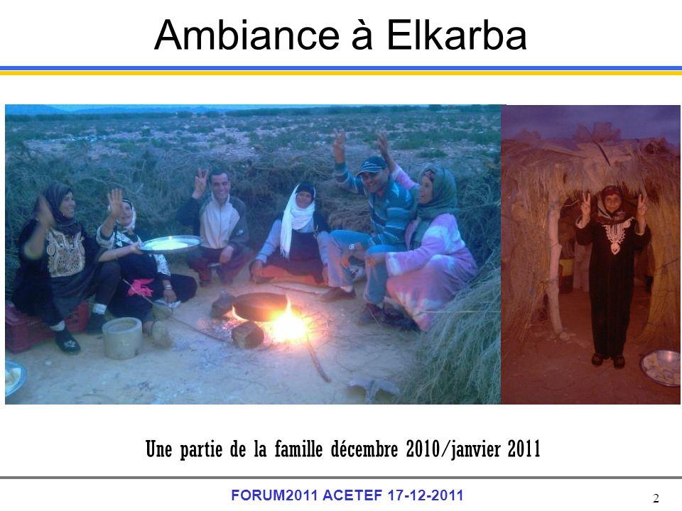 Ambiance à Elkarba Une partie de la famille décembre 2010/janvier 2011