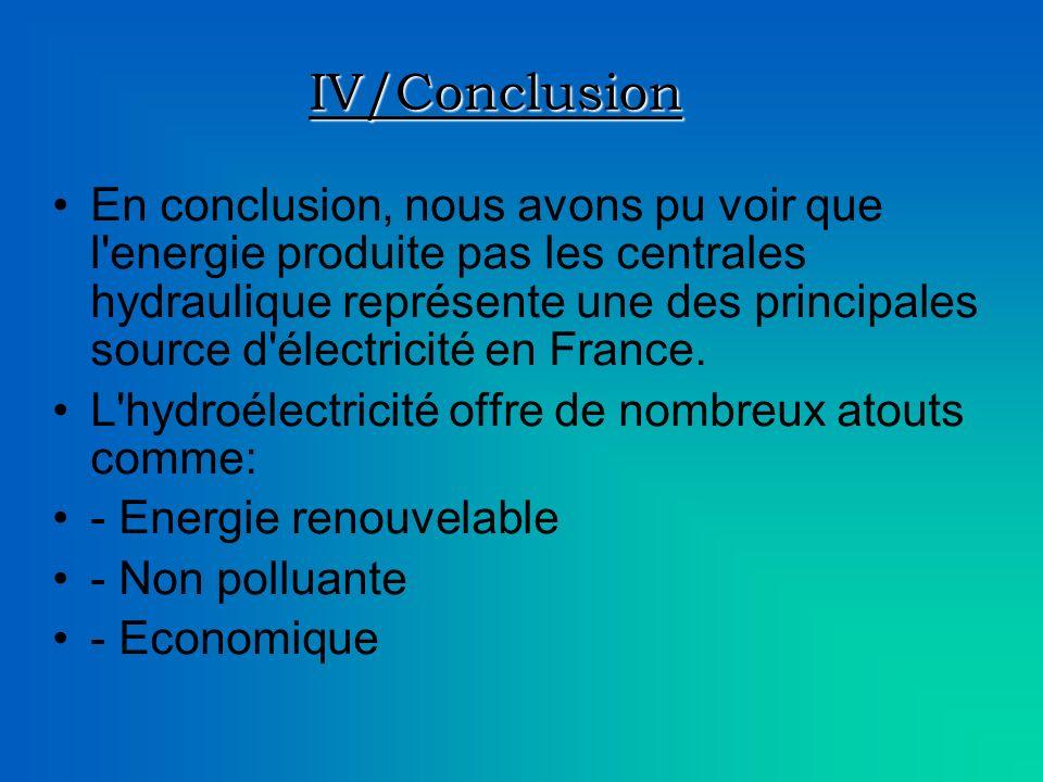 IV/Conclusion