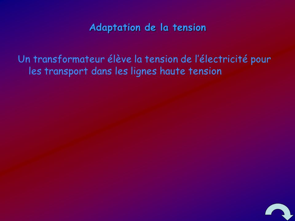 Adaptation de la tension