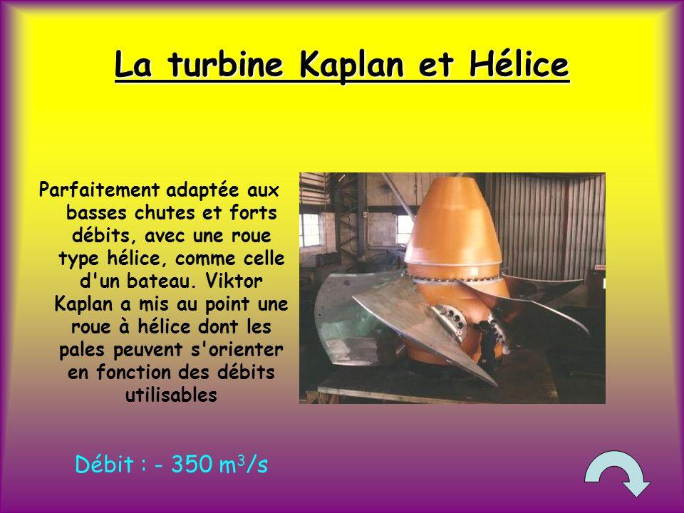 La turbine Kaplan et Hélice
