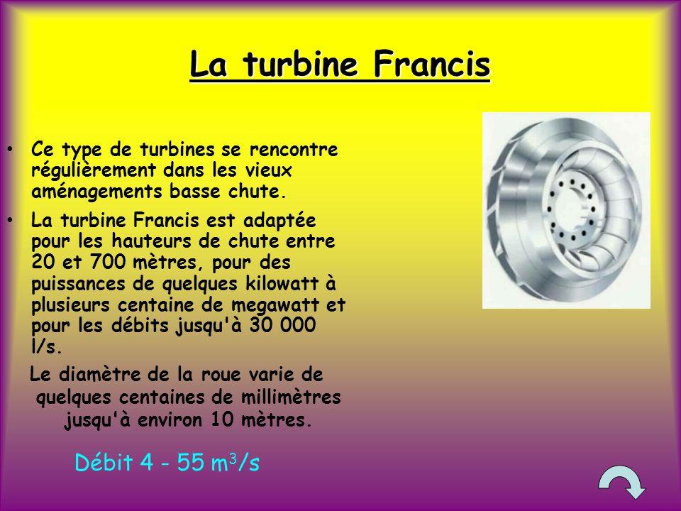 La turbine Francis Débit 4 - 55 m3/s