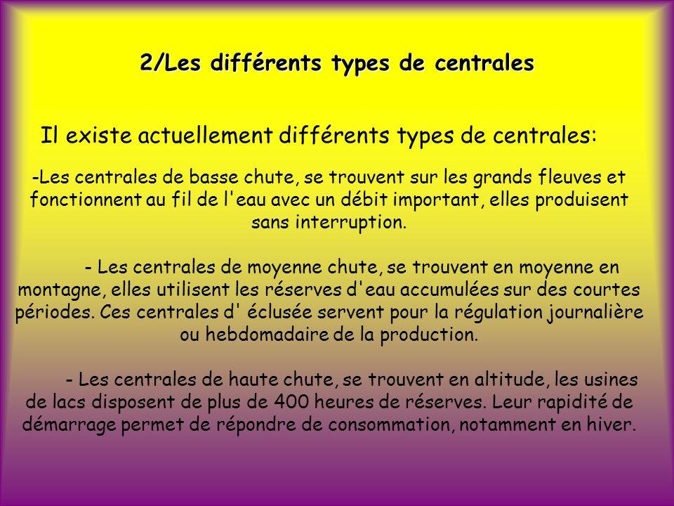 2/Les différents types de centrales