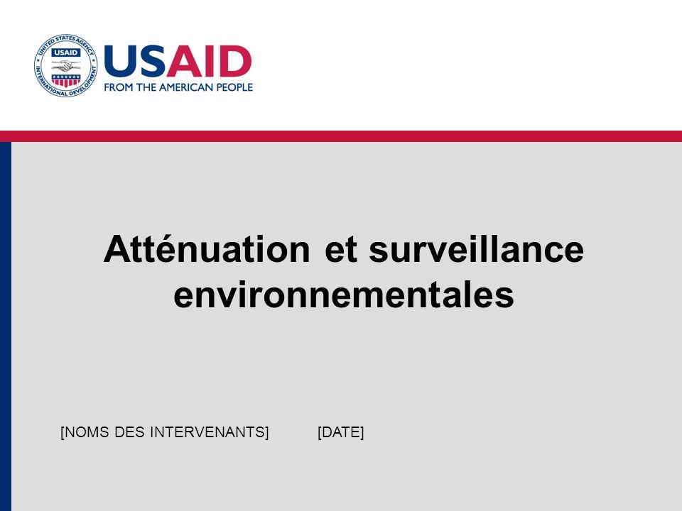 Atténuation et surveillance environnementales