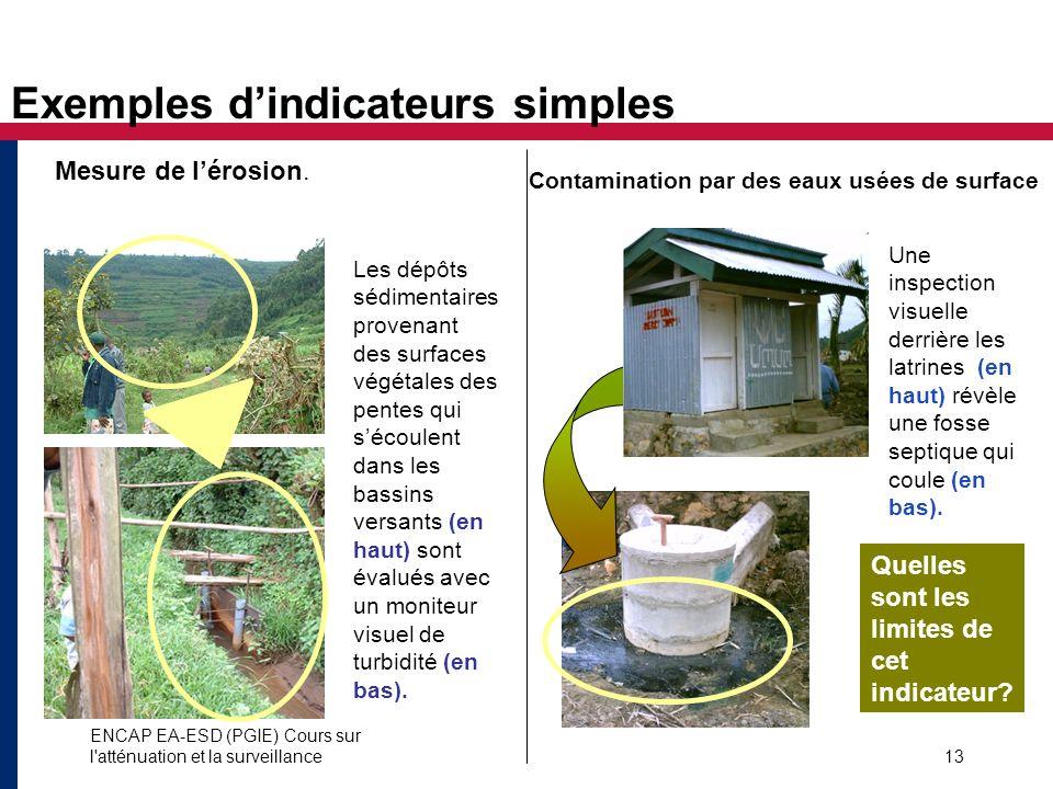Exemples d'indicateurs simples