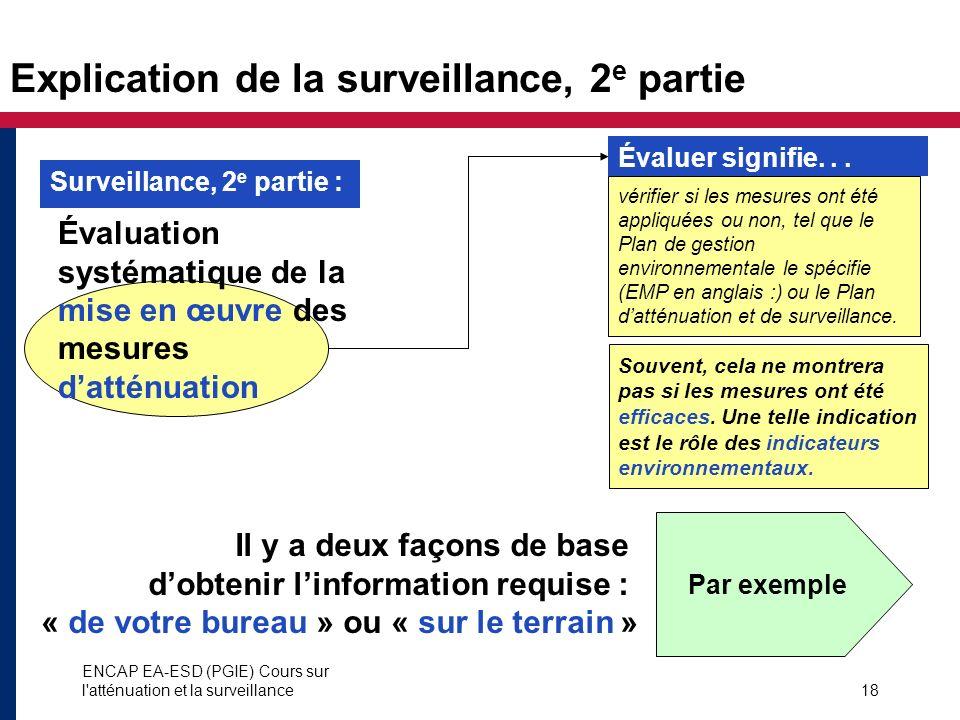 Explication de la surveillance, 2e partie