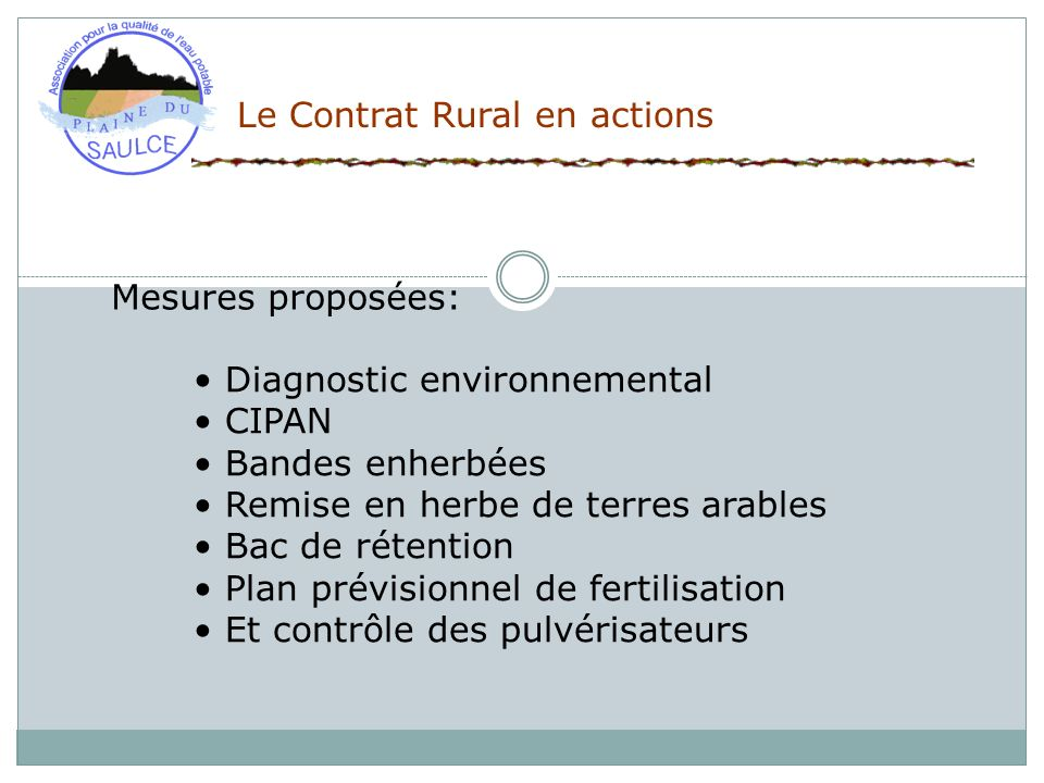 Le Contrat Rural en actions