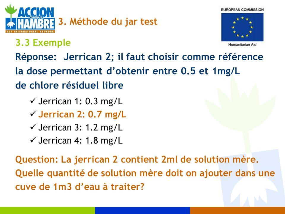 Réponse: Jerrican 2; il faut choisir comme référence