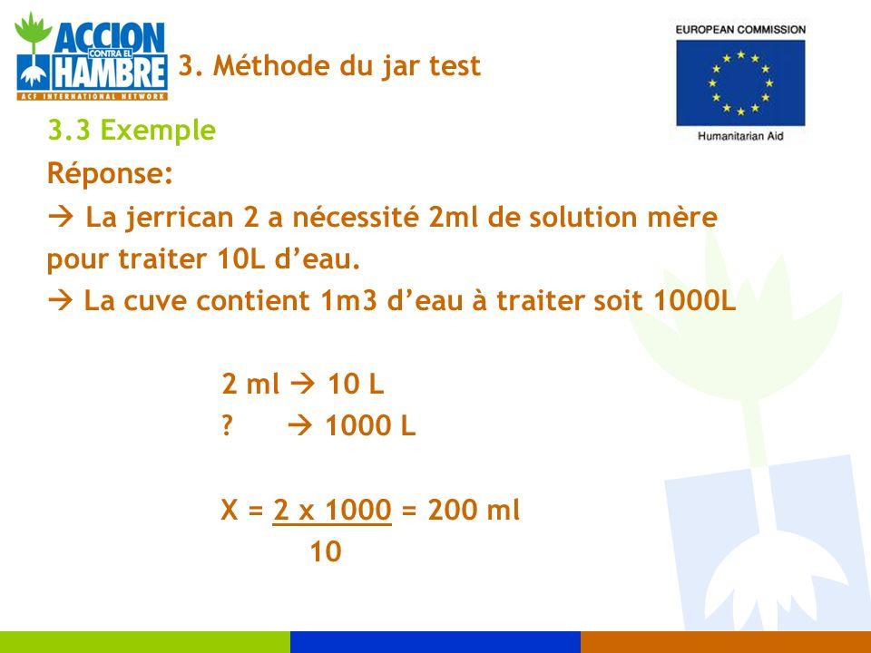  La jerrican 2 a nécessité 2ml de solution mère