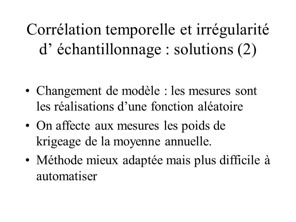 Corrélation temporelle et irrégularité d' échantillonnage : solutions (2)
