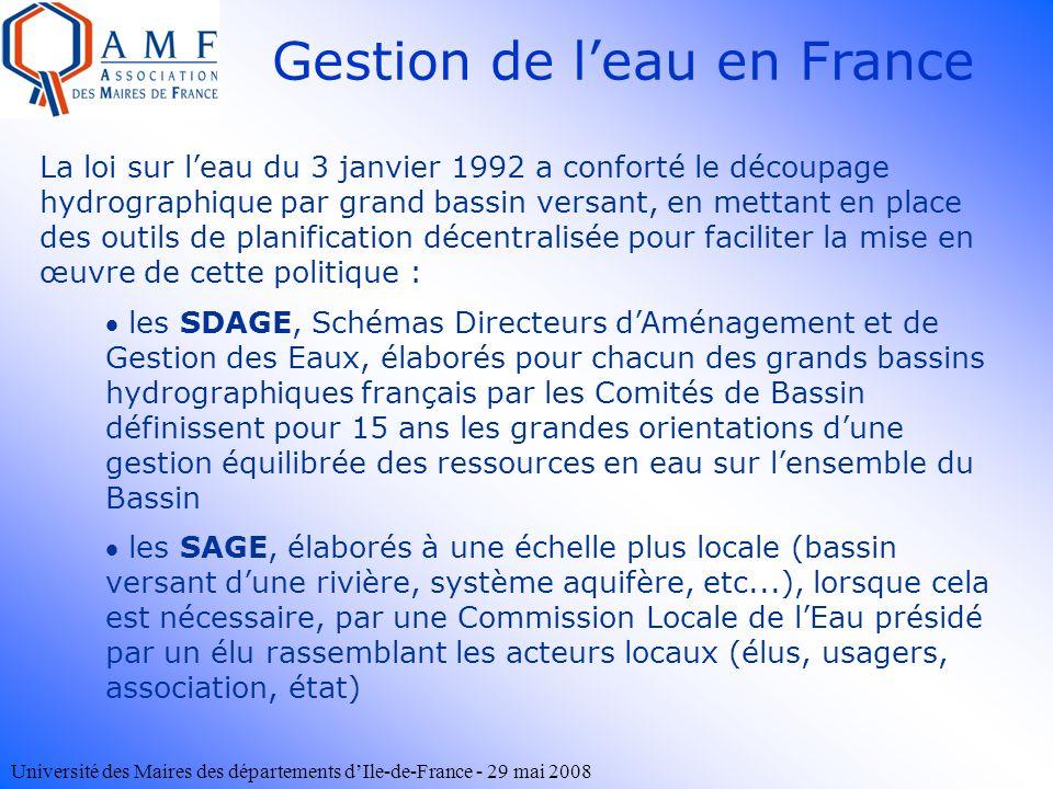 Gestion de l'eau en France