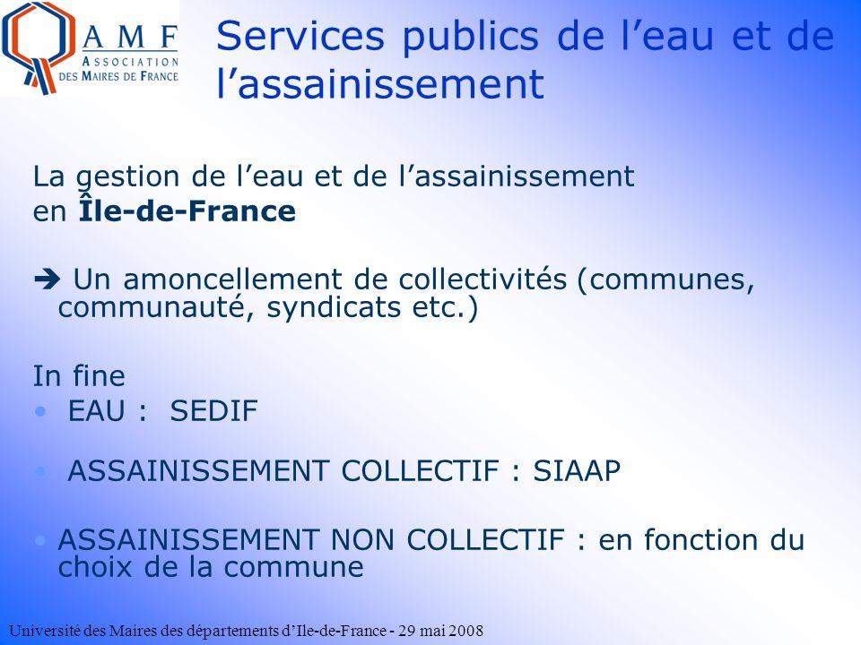 Services publics de l'eau et de l'assainissement
