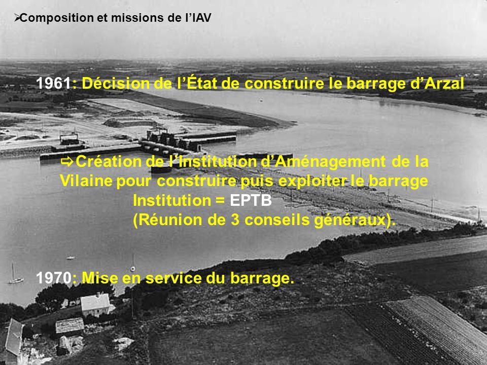 1961: Décision de l'État de construire le barrage d'Arzal