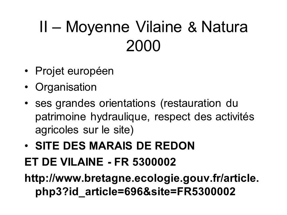 II – Moyenne Vilaine & Natura 2000