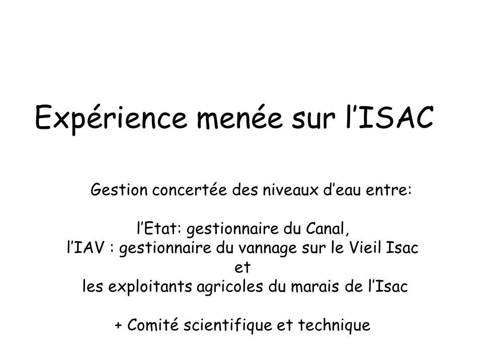 Expérience menée sur l'ISAC