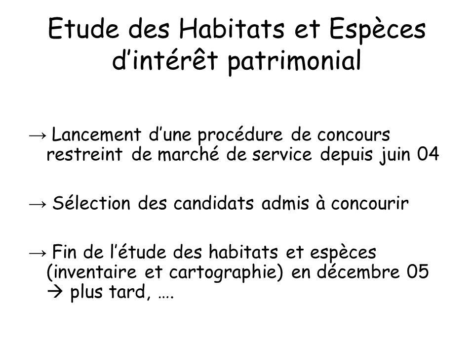 Etude des Habitats et Espèces d'intérêt patrimonial