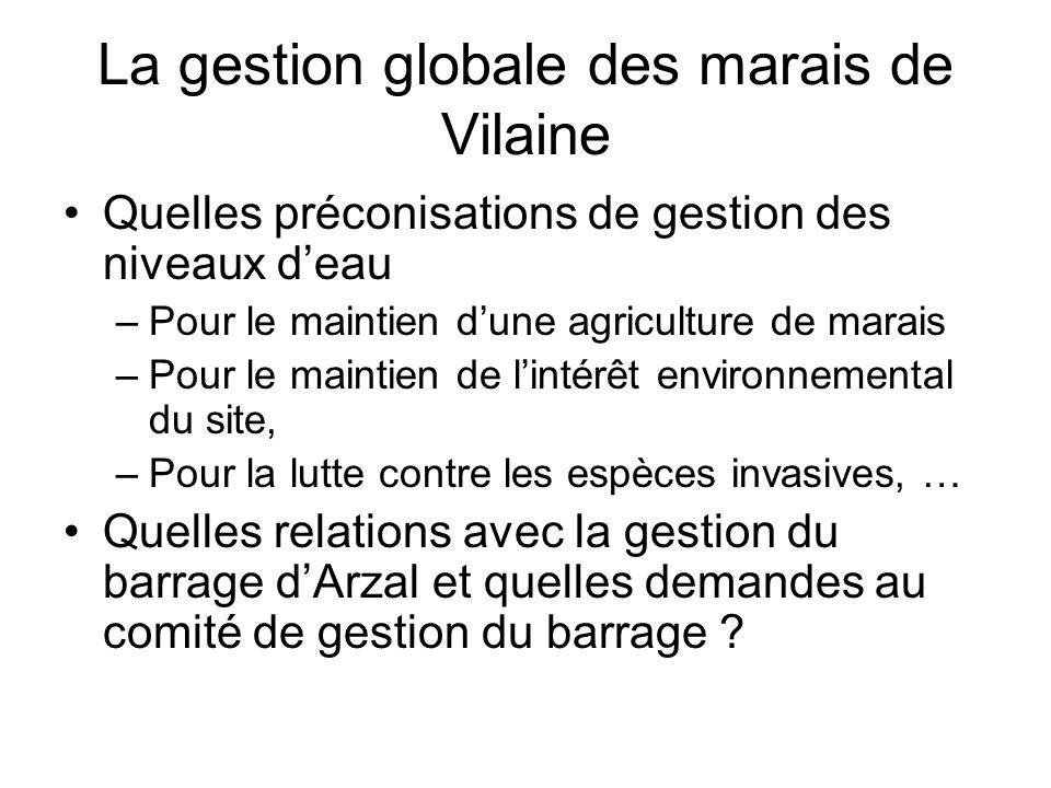 La gestion globale des marais de Vilaine