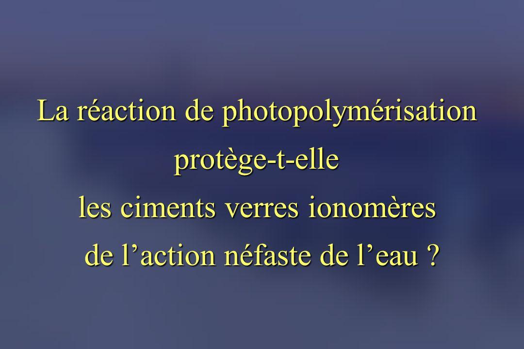 La réaction de photopolymérisation protège-t-elle
