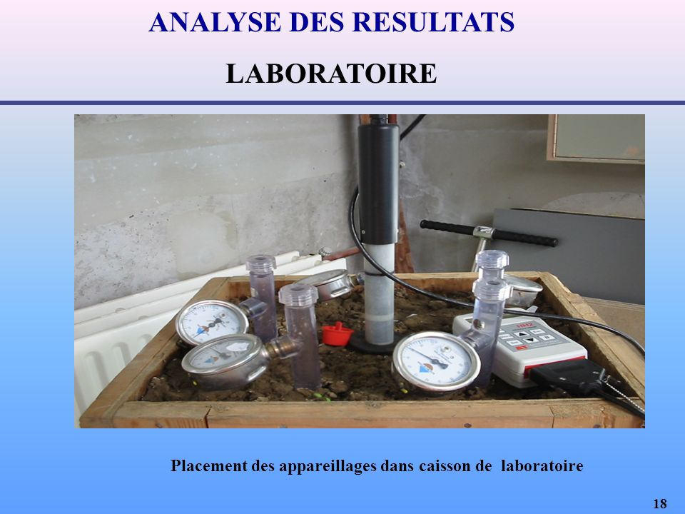 Placement des appareillages dans caisson de laboratoire