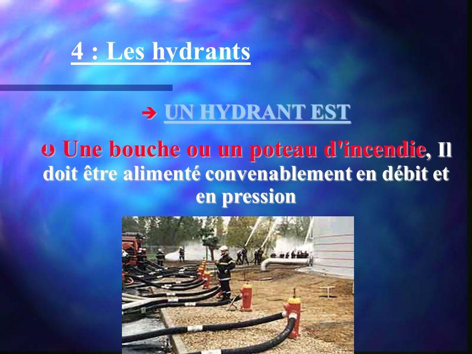 4 : Les hydrants UN HYDRANT EST.