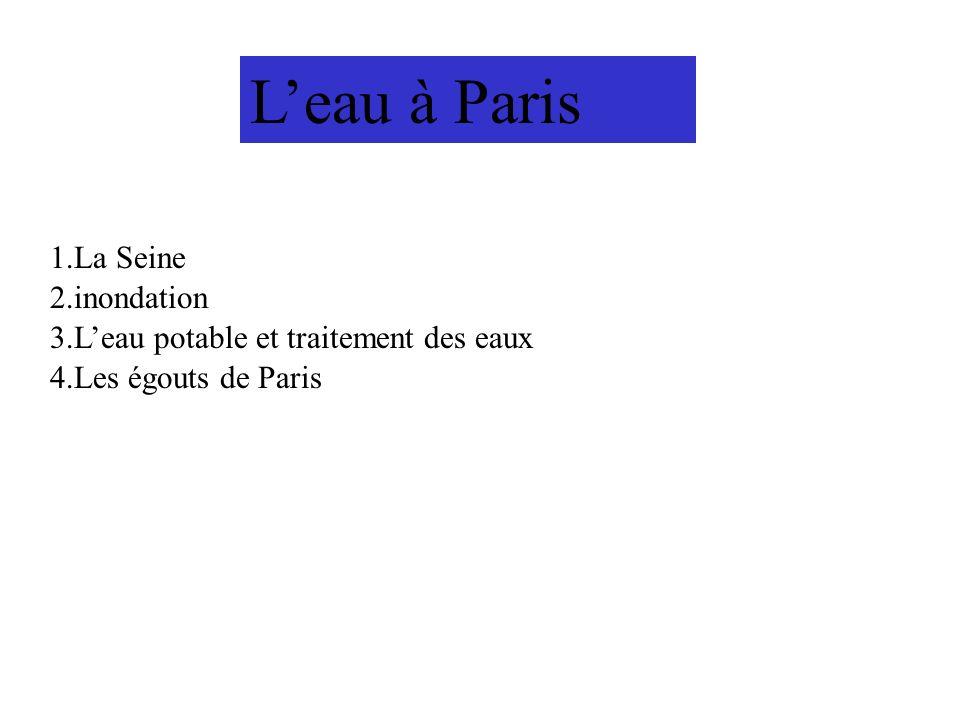 L'eau à Paris 1.La Seine 2.inondation