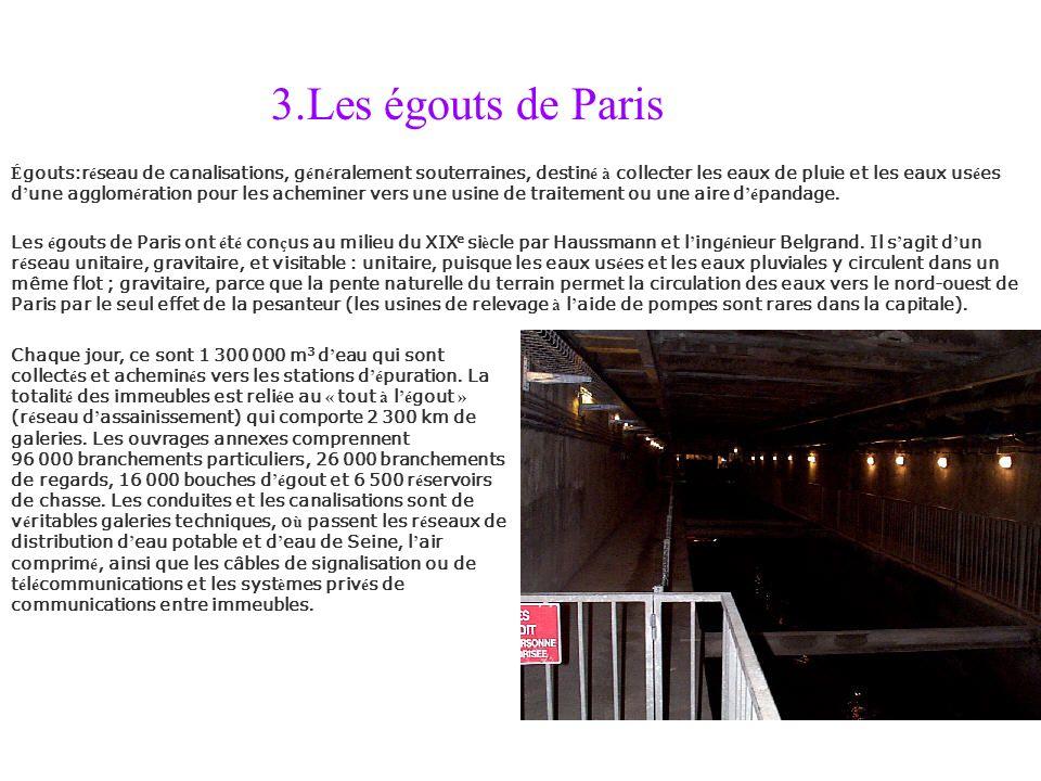 3.Les égouts de Paris