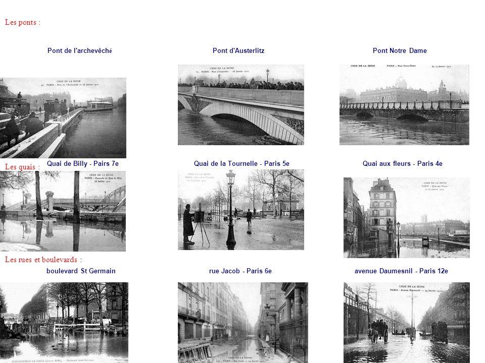Les rues et boulevards :