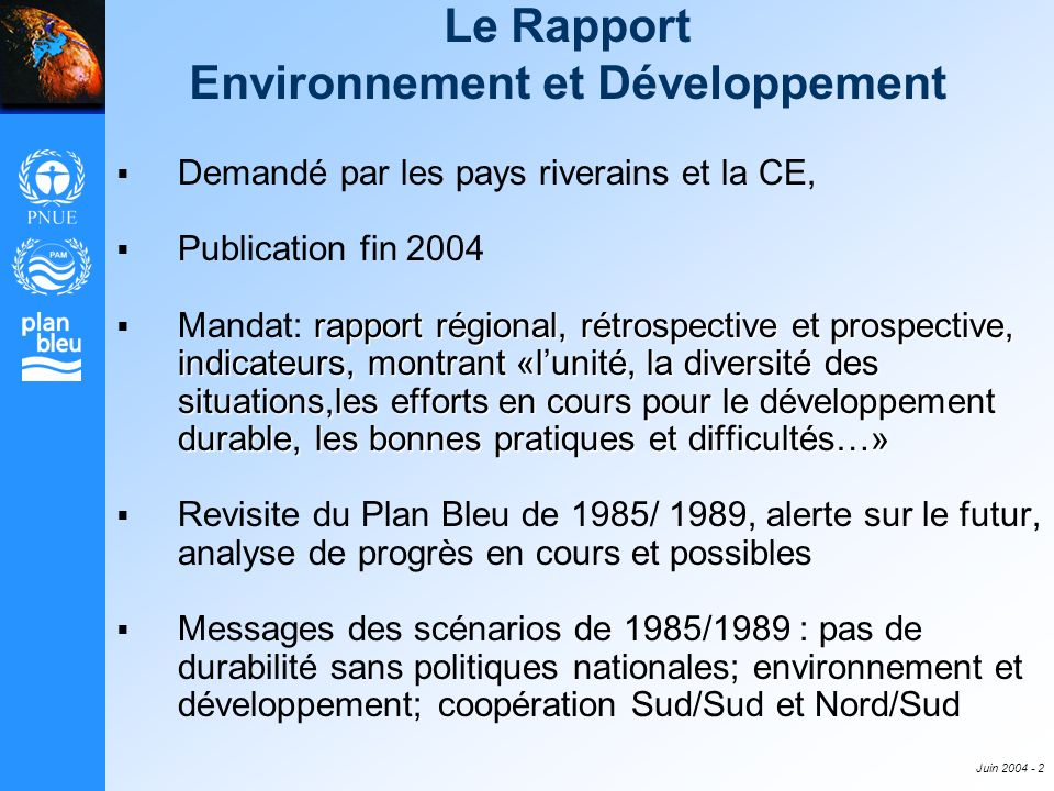 Le Rapport Environnement et Développement