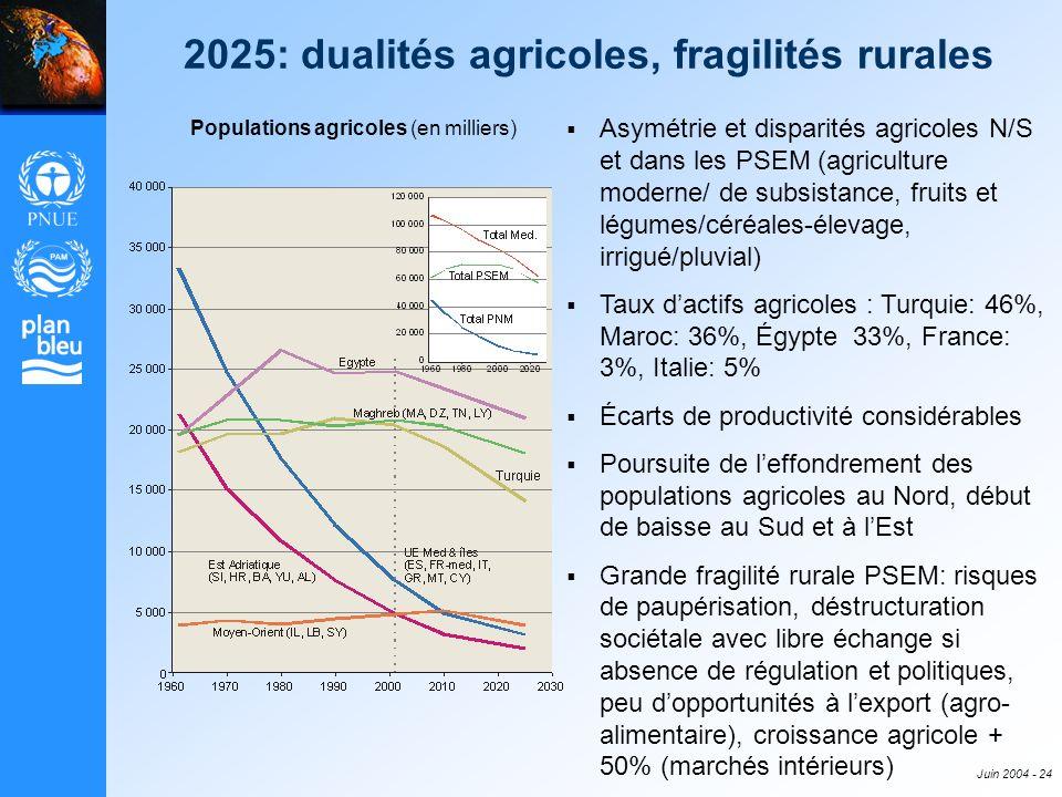 2025: dualités agricoles, fragilités rurales