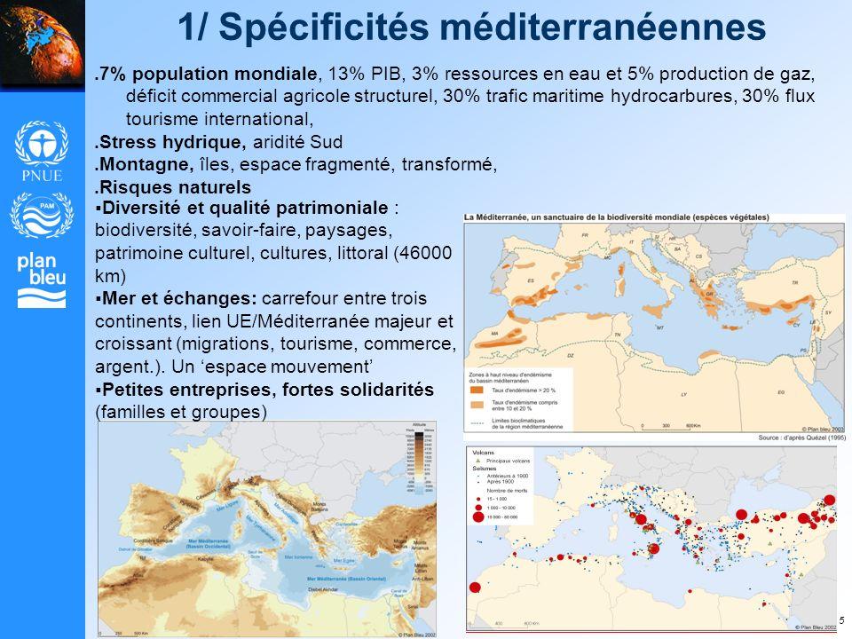 1/ Spécificités méditerranéennes