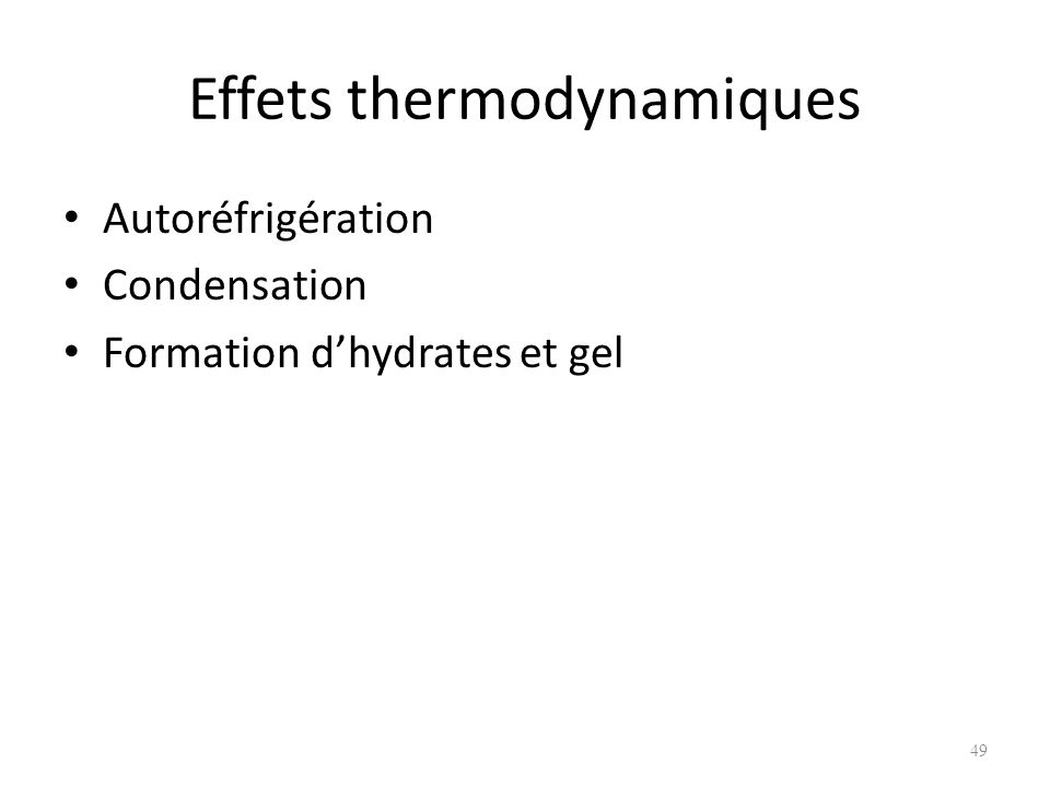 Effets thermodynamiques