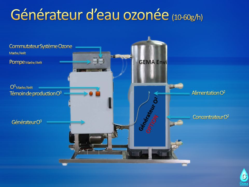 Générateur d'eau ozonée (10-60g/h)